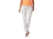 Aeropostale Womens Ashley Ultra Animal Print Skinny Fit Jeans 047 11/12x30