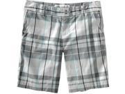 Aeropostale women's plaid slant pocket walking shorts - Bluff - Size 00