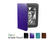 GMYLE(TM) Purple PU Leather Flip Folio Case Cover for Barnes & Noble Nook Simple Touch ebook Reader with GlowLight