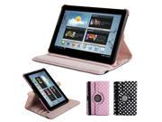 Pink & White 360 Degrees Rotating Folio Stand Case Cover  for Samsung Galaxy Tab 2 10.1 (Not For 10.1 2014 version)
