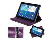 "Purple & White 360 Degrees Stand Case Cover For Samsung Galaxy Tab 1 2 10.1"" P7510 P5100 (Not For 10.1 2014 version)"