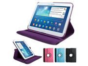 GMYLE(TM) Purple 360 Degree Rotating PU leather Folio Stand Case Cover for tablet Samsung Galaxy Tab 3 10.1 P5200