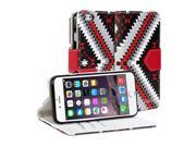 GMYLE Wallet Case Arrow (Tribal Pattern) for iPhone 6 (4.7 inch Display) - Ethic PU Leather Case