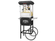 Great Northern Black Antique Style Popcorn Popper Machine w/Cart 8 Ounce 8 Oz