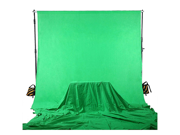 Square Perfect 10 Ft X 13 Ft Chromakey Green Screen Muslin Photography / Video