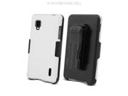 CB31 Hard Cover Case Combo Clip Holster for Sprint LG Optimus G LS-970 - White