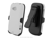 HTC Desire C 3 In 1 Combo Set Protex White Case and Holster Beltclip + Screen Protector