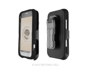 Samsung Galaxy Victory 4G L300 Combo Set Protector Case Holster w/ Kickstand Screen Protector Included - Black
