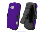 HTC Desire C 3 In 1 Combo Set Protex Purple Case and Holster Beltclip + Screen Protector