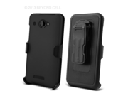 HTC DROID DNA 6435 3 In 1 Combo Set Protex Black Case and Holster Beltclip + Screen Protector