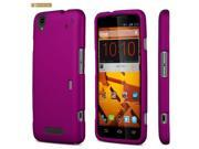 Purple Rubberized Snap On Protector Case for ZTE Max N9520
