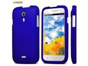 """Blue Rubberized Snap On Protector Case for BLU Studio 5"""" D530A"""
