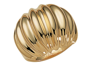 PalmBeach Jewelry 14k Yellow Gold-Plated Dome Shrimp Ring