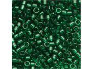Delica 11/0 Seed Beads Transparent Green Db713 7.2 Gr
