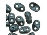 Preciosa Twin Beads 5x2.5mm 'Jet/Midnight Blue Pearl' (24g)