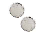 Nunn Design Antiqued Silver Plated Round Bezel Cup Pendant Lace Edge 18mm (2)