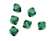Preciosa Czech Crystal Bicone Beads 4mm 'Emerald' (50)