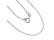 Sterling Silver Venetian .9mm Box Chain Necklace 36 In. W/ Clasp
