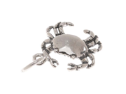 Sterling Silver Charm, 3D Crab 13x15mm, 1 Piece, Silver