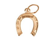 14K Gold Filled Lightweight Lucky Horseshoe Charm 12mm