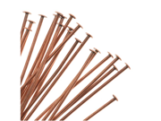 Genuine Antiqued Copper Head Pins 22 Gauge 2 Inches (24)