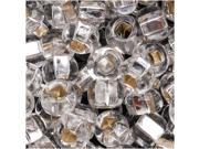"""Czech Seed Beads 6/0 """"Crystal Silver Foil Lined"""""""