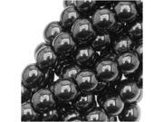 Czech Glass Druk 4mm Round 'Hematite' (100)