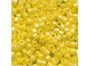 Delica Seed Bead 11/0 Opaque Yellow AB Db160 7.2 Grams