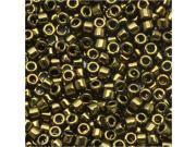 Miyuki Delica Seed Beads 11/0 Metallic Olive DB011 7.2 Grams
