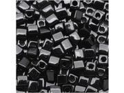"Miyuki 4mm Cube Beads ""Opaque Black"" #401 10 Gr"
