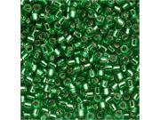 Delica Seed Bead 15/0 Silver Lined Lt Green Dbs0046 4Gr