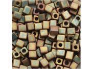 Miyuki 4mm Cube Beads Matte Metal Khaki Iris #2035 10Gr