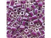 Miyuki 4mm Cube Beads Purple Lined Crystal #243 10 Gr