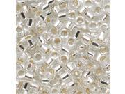 Delica 10/0 Seed Bead Silver Lined Crystal Dbm0041 8 Gr