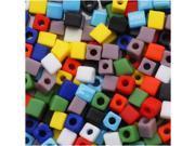 Miyuki 4mm Square Cube Bead Mix Op. Matte Rainbow 10Gr
