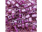 Miyuki 4mm Cube Beads Violet Lined Pink #2650 10 Gr