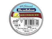 Beadalon Wire Standard Bronze 49 Strand .018 In (100Ft Spool)