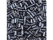 Toho Bugle Tube Beads Size #1 / 2x3mm Metallic Hematite 8 Grams