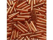 Toho Bugle Tube Beads Size #3 2x9mm Gold Lustered African Sunset 10 Grams