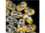 Preciosa Twin Beads 5x2.5mm 'Yellow Lined' (24 Grams)