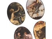 Collage Sheet 'Arthur Rackham Art' 22x33mm Ovals (1 Sheet)