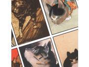 Collage Sheet 'Various Cats' 24x48mm Rectangles (1 Sheet)