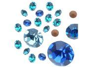 "Preciosa Czech Crystal Chaton Mix - Assorted Shapes And Sizes - ""Blue"" (5g)"