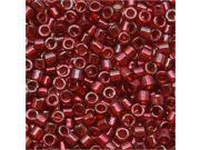 Delica 11/0 Seed Bead Trans Garnet Gold Luster 105 7.2G