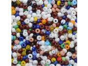 "Czech Seed Beads 8/0 ""Multi Color"" Opaque (1 Ounce)"