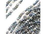 "Czech Seed Beads Mix Lot 11/0 ""Silver Wares"" Silver Mix- 1/2 Hank"