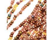 "Czech Seed Beads Mix Lot 11/0 ""Non Cents"" Copper Mix- 1/2 Hank"