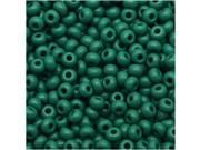 "Czech Seed Beads 8/0 ""Grass Green"" Opaque (1 Ounce)"