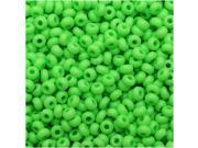 Czech Seed Beads 10/0 - Neon Green (25 Grams)
