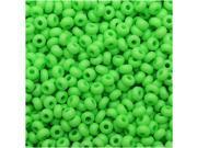 Czech Seed Beads 10/0 - Neon Green (25 Grams)